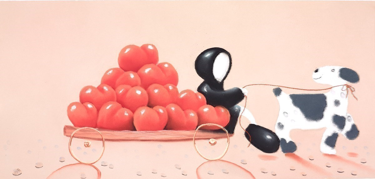 The Gift of Love by Mackenzie Thorpe -  sized 29x14 inches. Available from Whitewall Galleries